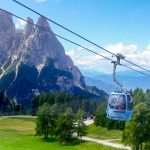 Gondola outside of Ortisei in the Alto Adige and Dolomites